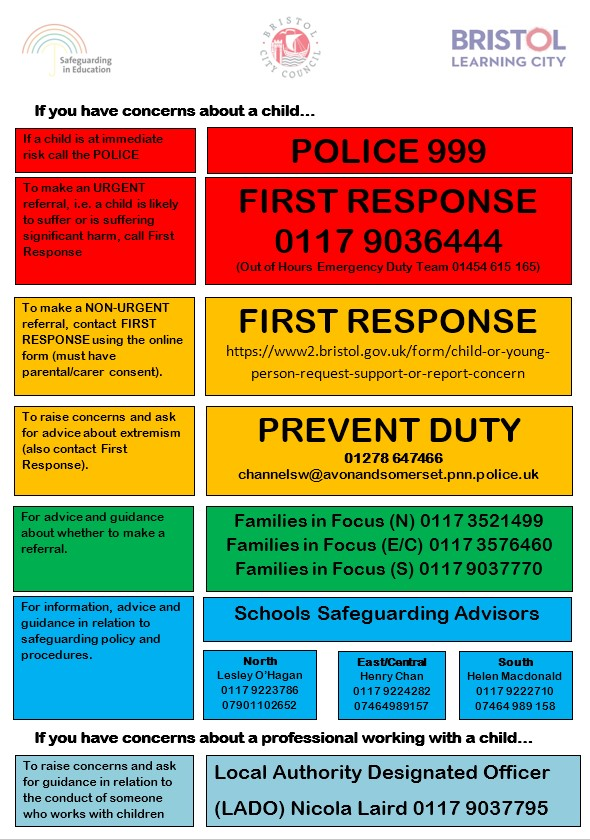 Safeguarding in Bristol poster