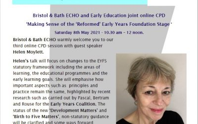 ECHO 'Making Sense of the 'Reformed' Early Years Foundation Stage ' online CPD session.